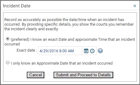 Enter Date & Time of Incident - Workplace Harassment | Forensic Notes
