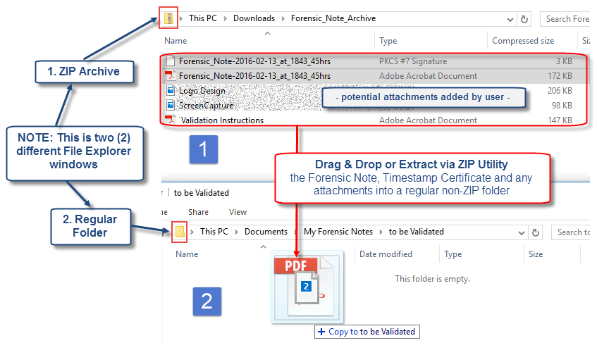 Extract Forensic Notes from ZIP Archive | Forensic Notes Software