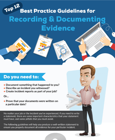 Top 12 : Best Practice Guidelines for Recording and Documenting Evidence : Infographic by Forensic Notes