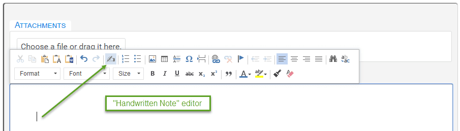 Handwritten Note Editor - Toolbar Icon