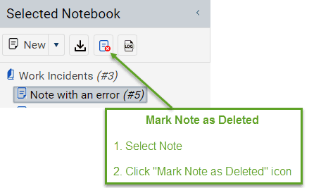 Mark Forensic Note as Deleted