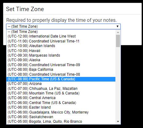 Set Timezone