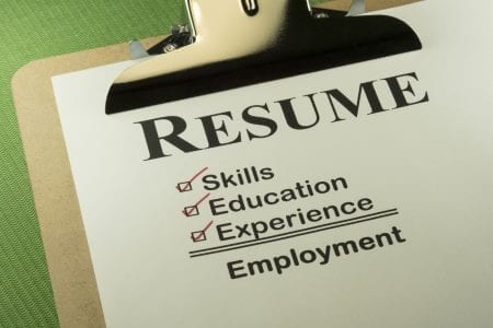 Resume Checklist for Workplace Investigator