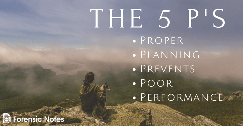 The Five P's - Proper Planning Prevents Poor Performance