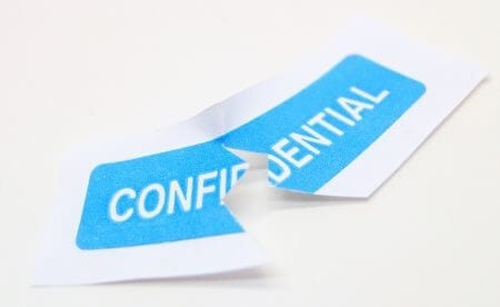 Keep employee information private and confidential