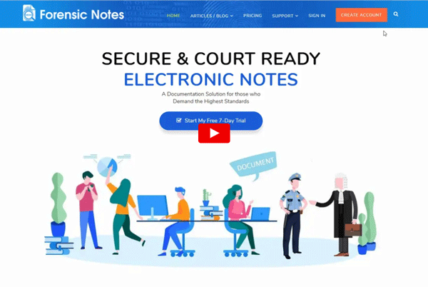 Learn How to Sign-up with Forensic Notes