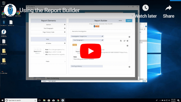 Hunchly Report Builder