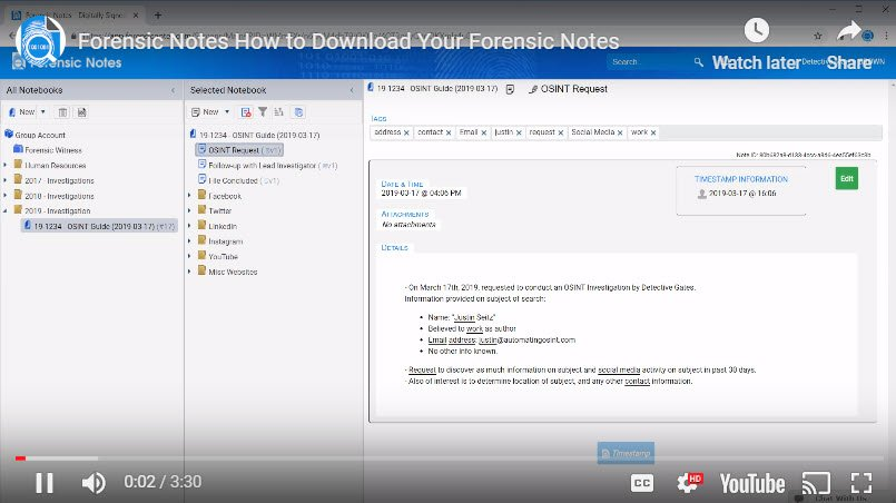 How to Download Your Forensic Notes