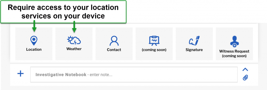 Location & Weather Require Access to Location Settings